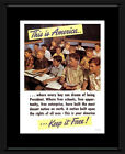 This Is America? - War Propaganda Framed and Mounted...