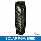 PE Wicker Solar Outdoor Floor Lamp Garden Walkway Path Light Beacon Lighting