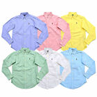 Polo Ralph Lauren Womens Shirt Buttondown Oxford Classic Long Sleeve Collar New