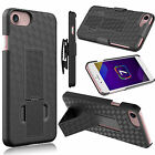 2016 Black Holster Shell Case Cover Belt Clip with Kick-Stand fr iPhone 7/7 Plus