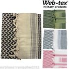 WEB-TEX MILITARY SHEMAGH 100% COTTON ARMY FACE DISGUISE HEAD SAND SCARF SAS ARAB