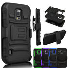 HYBRID REFINED ARMOR COVER PHONE CASE & HOLSTER FOR SAMSUNG GALAXY S5 ACTIVE
