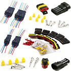 2/3/4/5/6 Pin Waterproof Electrical Connector Plug Car Wire Male Female Terminal