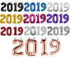 """34"""" Gold Silver Magenta Red Blue Black 2019 Number NewYears Graduations Balloons"""