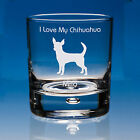 Chihuahua Dog Lover Gift Personalised Whisky Glass, Chihuahua Gift, Chihuahua