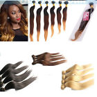 3 Bundles Brazilian Virgin Remy Straight Ombre Human Hair Extensions Weave