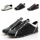 New Fashion Mens Athletic Sneakers Casual Lace Up Running Loafers Leather Shoes