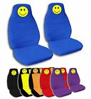 2 Smiley Face Seat Covers 1998-2012 VW Beetle with Seat Release Opening and ABF