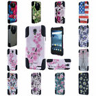 For ZTE Avid Trio ZTE Cheers Design Hybrid T Kickstand Cover Case