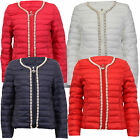 Girls Jacket Kids Coat Pearl Beads Padded Quilted Bubble Puffer Zip Winter New