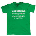 Vegetarian Mens Funny T Shirt, Novelty Christmas Gift for Dad Him BBQ Chef