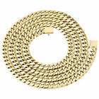 10K Yellow Gold Semi Hollow Miami Cuban Chain Box Clasp 6mm Necklace 24-34 inch