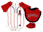 Anaheim Angels Infant Adidas 3-Piece Bodysuit, Bib & Booties Set