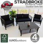 Eucalyptus Modular Garden Lounge Set Timber Outdoor Sofa Set Furniture Setting