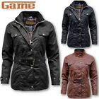 WOMENS GAME BLAZE ANTIQUE WAXED COTTON JACKET WITH BELT BIKER COUNTRY GAME