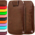 Universal PU-Leather Pull Tab Insert Pouch Case Cover for Various Moble Phones