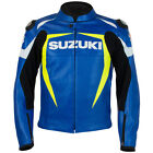 SUZUKI BLUE LEATHER STREET MOTORCYCLE JACKET (SM-2X) 990A0-21235