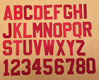 "2"" Two Inch Red Tackle Twill Letters and Numbers"