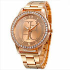 Quartz Analog Luxury Wrist Watch Crystal Dial New Stainless Steel Women Fashion