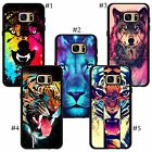 Portrait of a Male corlorful blue pink wolf Lion tiger Snap Samsung case cover