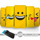 UNIVERSAL FIT Printed Phone Case Cover : Emoji Faces : emoticon protector Smiley