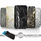 UNIVERSAL FIT Printed Phone Case Cover : Marble Look Printed : White Black