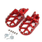 CNC Foot Peg Pedals Rests For Honda CRF250R CRF250X 2004-2019 CRF450R 2002-2019 image