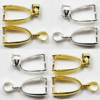 20Pcs Gold/Silver Plated Pendant Pinch Clip Bail Connector Jewelry Findings
