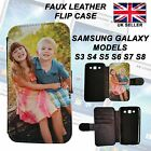 Kyпить Personalised Phone Case Faux Leather Flip Case for Samsung Galaxy S3,4,5,6,7,8 на еВаy.соm