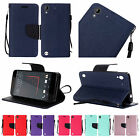 For HTC Desire 530 Premium PU Leather Wallet Flip Card Holder Cover Case