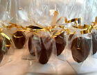 Handmade,coffee Latte,chocolate Covered Spoons, Favors, Double Dipped
