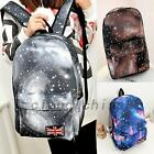 Chic Galaxy Canvas Backpack Laptop Shoulder School Bag Travel Schoolbag Rucksack