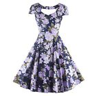 Special Floral Printed Party Dress New Women Vintage Style Swing Rock Dress