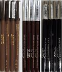 4 x SAFFRON WATERPROOF EYE BROW PENCIL BLONDE DARK BROWN OR BLACK LINER EYEBROW