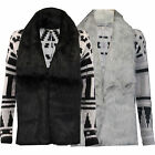 Ladies Cardigan Threadbare Womens Knitted Open Front Aztec Fur Sweater Winter