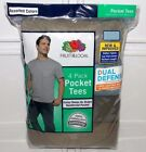 Fruit of the Loom Men's 4-Pack Crewneck Pocket T-Shirts Big & Tall Sizes 2XL 3XL image