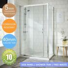 Sliding Shower Enclosure Cubicle Door Side Panel Stone Resin Tray & Free Waste