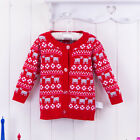 Bebini Baby Kid 9-48M Infant Girl Sweater Cardigan 100% Cotton Printed Red Dog