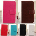 Book-Style PU Leather Case Cover Skin Protector Wallet For Blu Various Phones