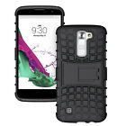 Hybrid Hard Soft Rubber Phone Case Cover Kickstand  For LG Series Phone