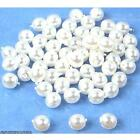 60 Glass Pearls Beads White Czech Jewelry 4mm Parts