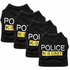 Small Dog Cat Vest Police Puppy T-Shirt Coat Pet Clothes Summer Apparel Costumes
