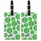 Luggage Suitcase Carry-On ID Tags Set of 2 I Love You More Serif Fun