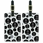Luggage Suitcase Carry-On ID Tags Set of 2 Keep Calm and H-O