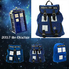 Doctor Who Tardis Dr Who Backpack Canvas Shoulder Bag Slouch Bag Purse XMAS Gift
