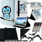 Folio Leather Stand Flip Cover Case For Various 7 inch Android tablet + STYLUS