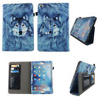 For iPad Mini 4 Tablet Case Folio Book Style Stand Leather Cover Card ID Slots