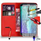 FOR Samsung Galaxy S7 Edge - Wallet Case Tempered Glass Mini Stylus SP BLUE DS