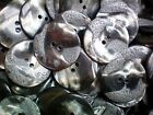 Large 34mm 54L Silver Grey Pearlescent & Matt Detail 2 Hole Coat Button (W247)