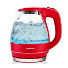 Ovente Electric Glass Kettle 1.5Liter with Heat Tempered Borosilicate Glass KG83 photo